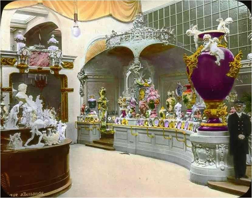 pavilhão alemão porcelana real