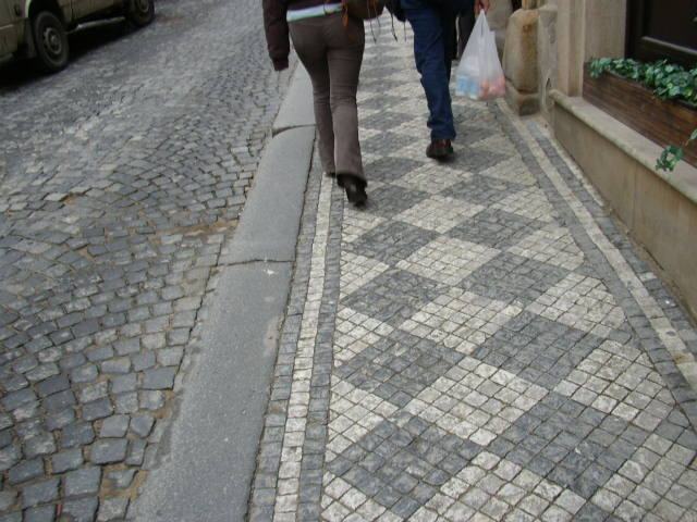 prague sidewalks