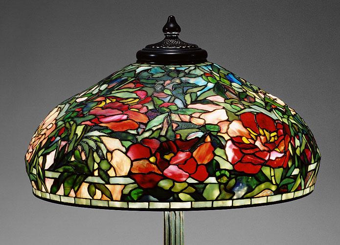standing lamp peony shade