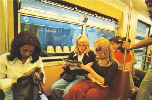 inicio da operação da linha 1 1974