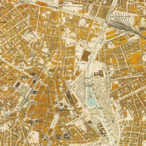 Parque D. Pedro II - projeto de Bouvard mapa Sara Brasil - 1930