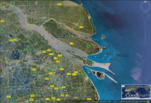 Vista atual de Dongtan Fonte: Google Earth, 2013
