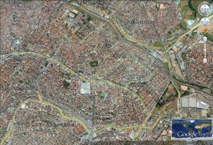 Vista aérea do bairro Fonte: Google Earth