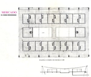 Projeto de Centro Comercial  Fonte: Rev. Arquitetura e Engenharia